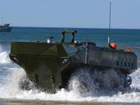 """משוריין אמפיבי, צבא ארה""""ב, BAE Systems, כלי רכב, Amphibious Combat Vehicle I.I  / צילום: וידאו"""