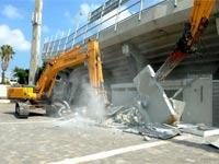 הריסת איצטדיון בלומפילד/ צילום: כפיר סיון