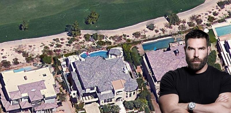 דן בילזריאן על רקע האחוזה שלו / צילום: מתוך האינסטגרם, גוגל מפות