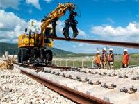 רכבת העמק, הנחת פסי הרכבת/ צילום: נתיבי ישראל