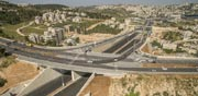 מחלף בגין דרום, מקטע 3, תחבורה, ירושלים, תשתיות / צילום: Elements