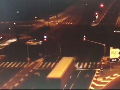 תאונת דרכים בצומת פורדיס/ צילום: מתוך הוידאו