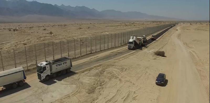 הגדר המזרחית, משרד הביטחון, הגבול עם ירדן, תמנע / צילום: אגף ההנדסה והבינוי במשרד הביטחון