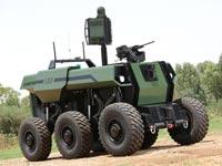 """רובוט לשדה הקרב, RoBattle, מערכת רובוטית כבדה בלתי מאוישת, התעשייה האווירית IAI / צילום: יח""""צ"""