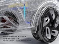 """צמיג שמטעין את הרכב , מכונית חשמלית Goodyear BH03 / צילום: יח""""צ"""