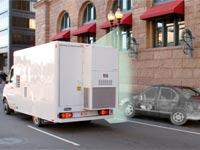 משאית קרני רנטגן, משטרת ניו יורק Z Backscatter Vans, / צילום: וידאו