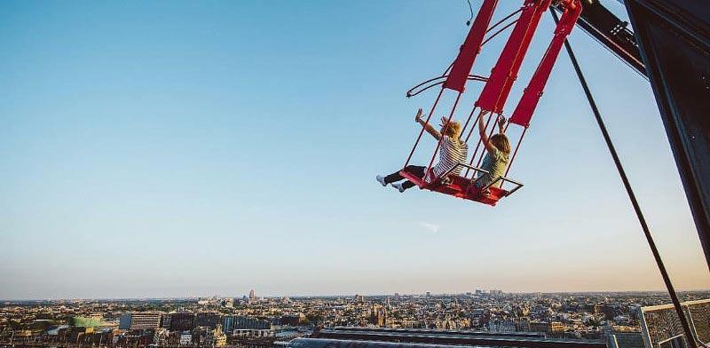 הנדנדה הגבוהה בעולם אמסטרדם/ צילום: מהוידאו