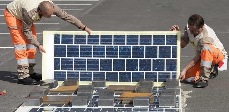 """הכביש הסולארי הראשון בעולם, צרפת, Wattway, the Colas Solar Road / צילום: יח""""צ"""