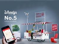 """בית קפה נייד על אופניים wheelys-5-cafe-bike / צילום: יח""""צ"""