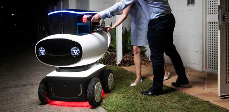 """רובוט משלוחים דומינוס פיצה / צילום: יח""""צ"""