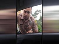 """שוטר שנסע במהירות ארה""""ב / צילום: מהוידאו"""