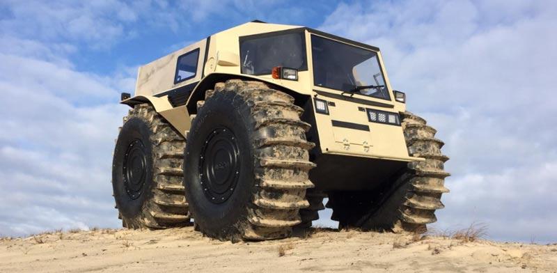 רכב שטח תוצרת רוסיה שארפ / צילום: מהוידאו