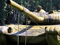 טנקים מתנפחים, כלי נשק מתנפחים, צבא רוסיה, הטעיית האויב Rusbal / צילום: וידאו