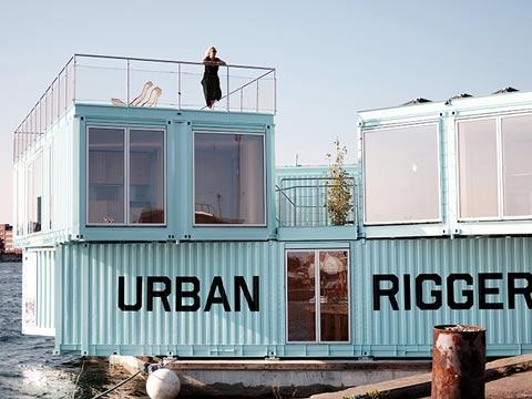 מכולה צפה למגורים, מגורי סטודנטים, דירות להשכרה, קופנהגן דנמרק / צילום: urban rigger/ BIG