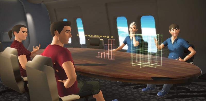 """אפליקציה לשיחת ועידה וירטואלית V Time , משקפי מציאות מרובדת / צילום: יח""""צ"""
