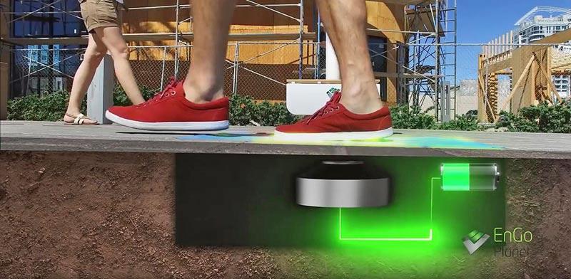מדרכה מייצרת חשמל/ צילום: מהוידאו
