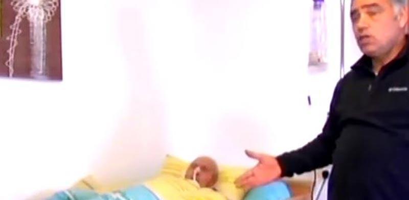 יוסי, קשיש מפונה מביתו בגבעת שמואל/ צילום: חדשות 2