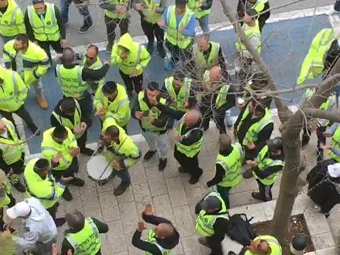 שביתה בנמל אשדוד/ צילום: מתוך הוידאו