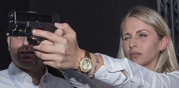 """ירי באקדח/ צילום: יח""""צ משוחרר"""