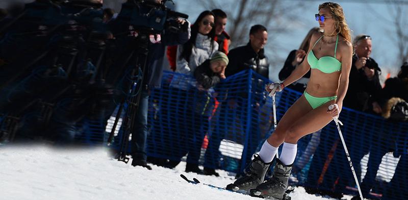 סקי בביקיני / צילום: טוויטר