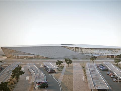 שדה התעופה רמון / צילום: אסף מן, אדריכל