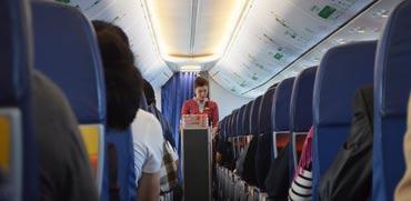 מטוס, דיילת אוויר/ צילום שאטרסטוק