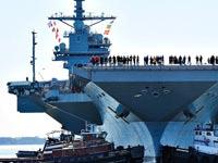 ג'רלד פורד נושאת מטוסים צילום: יו-טיוב