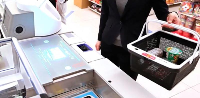 סל קניות אלקטרוני RFID.  / צילום: מתוך הוידאו