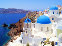 האי היווני סנטוריני/ צילום: שאטרסטוק