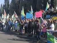"""עובדי קקק""""ל מפגינים / צילום: יחצ"""