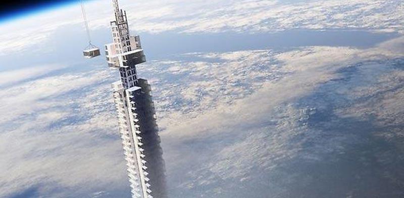מיגדל תלוי על אסטרואיד/ צילום: מתוך הוידאו