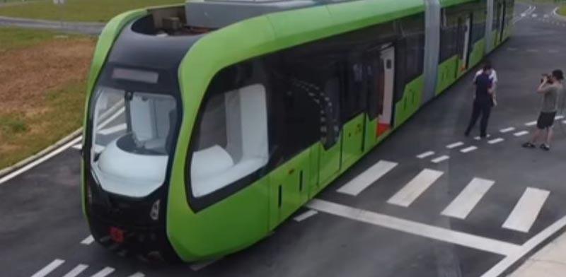 רכבת ללא מסילה/ צילום: מתוך הוידאו