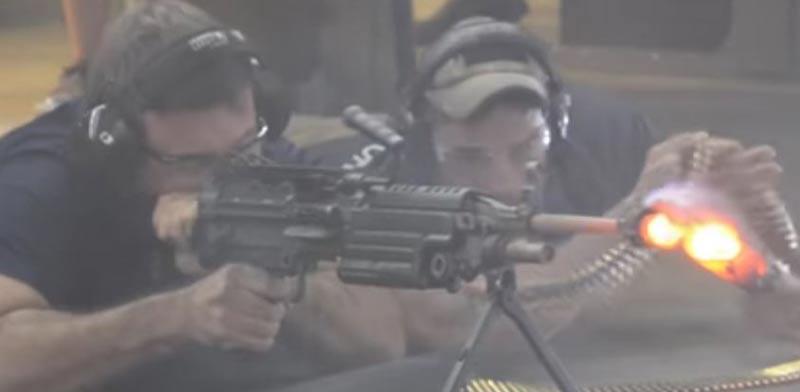 ירי 700 כדורים/ צילום: מתוך הוידאו