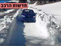 חדשות הרכב, סובארו בשלג/ צילום: מתוך הוידאו