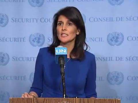 """שגרירת ארה""""ב באו""""ם סרטון/ צילום: מהוידאו"""