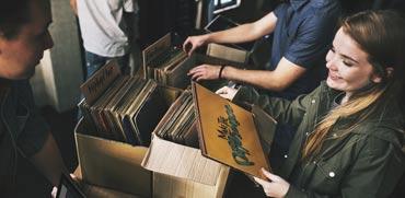 תקליטי ויניל, צילום: shutterstock