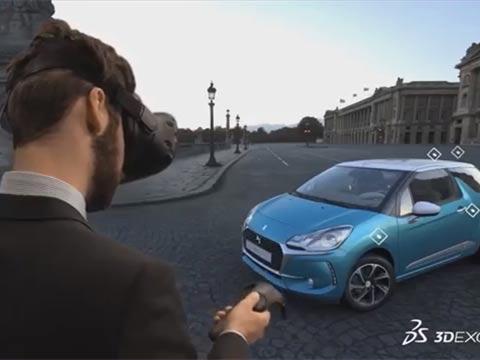 רכב חכם, נהיגה עם משקפי vr/ צילום: מתוך הוידאו