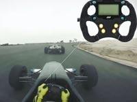 מירוץ מכוניות עם מערכת בלוטוס/ צילום: מתוך הוידאו