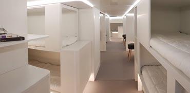 העתיד של עולם הנסיעות: חדרי אירוח בבטן המטוס