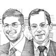 """עוה""""ד ירון קוסטליץ ואביעד שאולזון / איור: גיל ג'יבלי"""