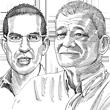 שמיל גינזברג ורימון חייט / איור גיל ג'יבלי