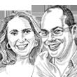 סטלה קורין ליבר ועמירם ברקת / איור: גיל ג'יבלי