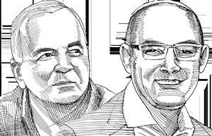 יעקב אמסלם ואורי אביגדור / איור: גיל ג'יבלי, גלובס