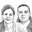 מיכאל שראל והודיה למפרט / איור: גיל ג'יבלי