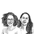 רג'דה אלנאבולסי ורנא אסעיד  / איור: גיל ג'יבלי