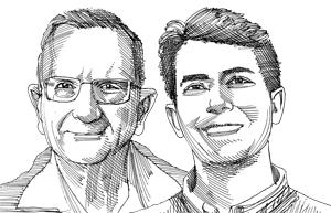 עילי רטיג ושאול חורב  / איור: גיל ג'יבלי
