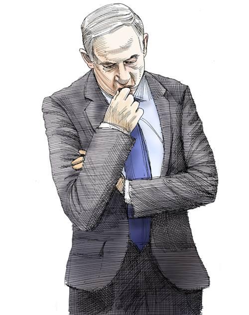 ראש הממשלה, בנימין נתניהו / איור: גיל ג'יבלי