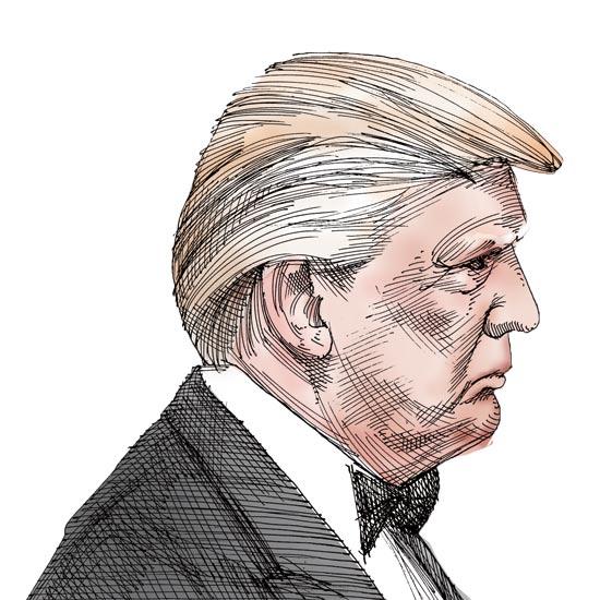דונלד טראמפ - איור: גיל ג'יבלי
