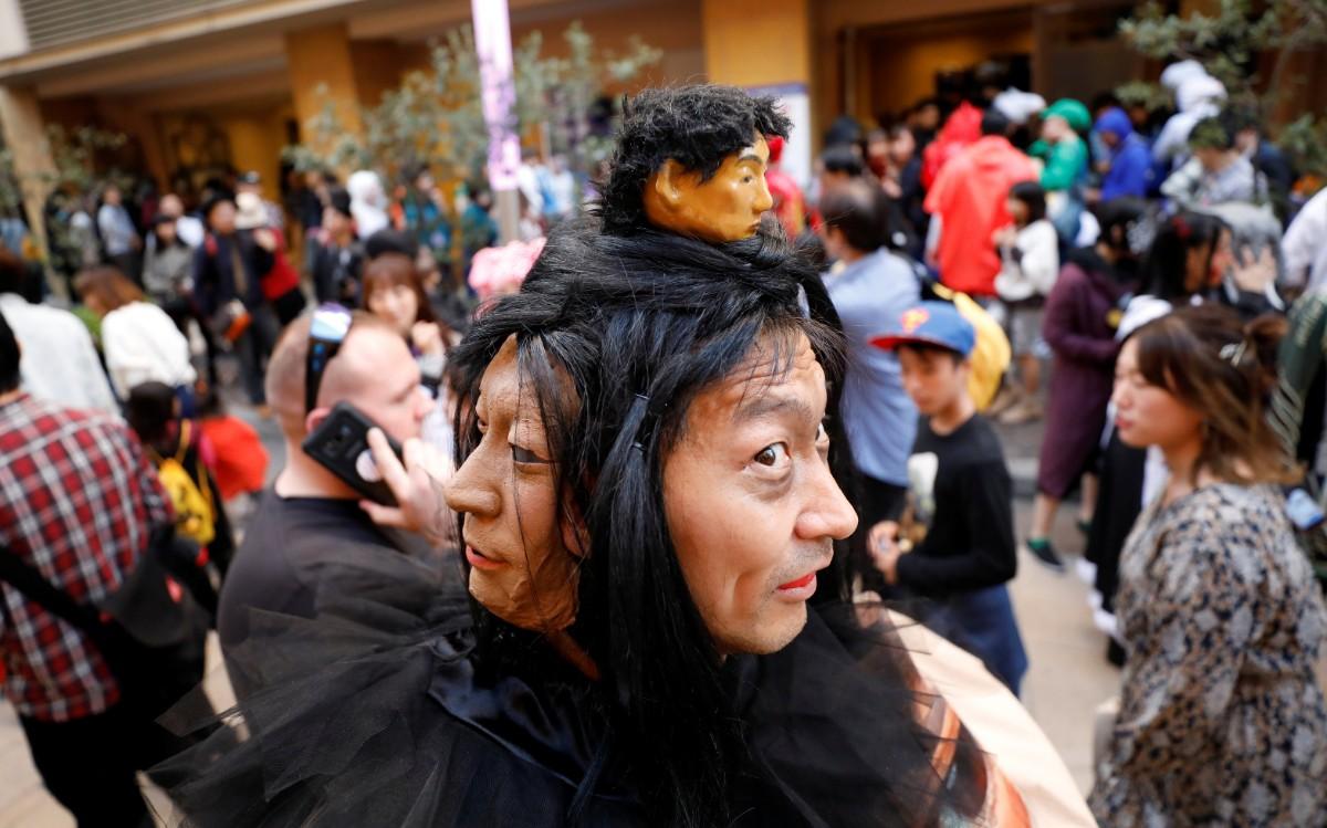 משתתף במצעד האלווין בטוקיו / צילום: רויטרס