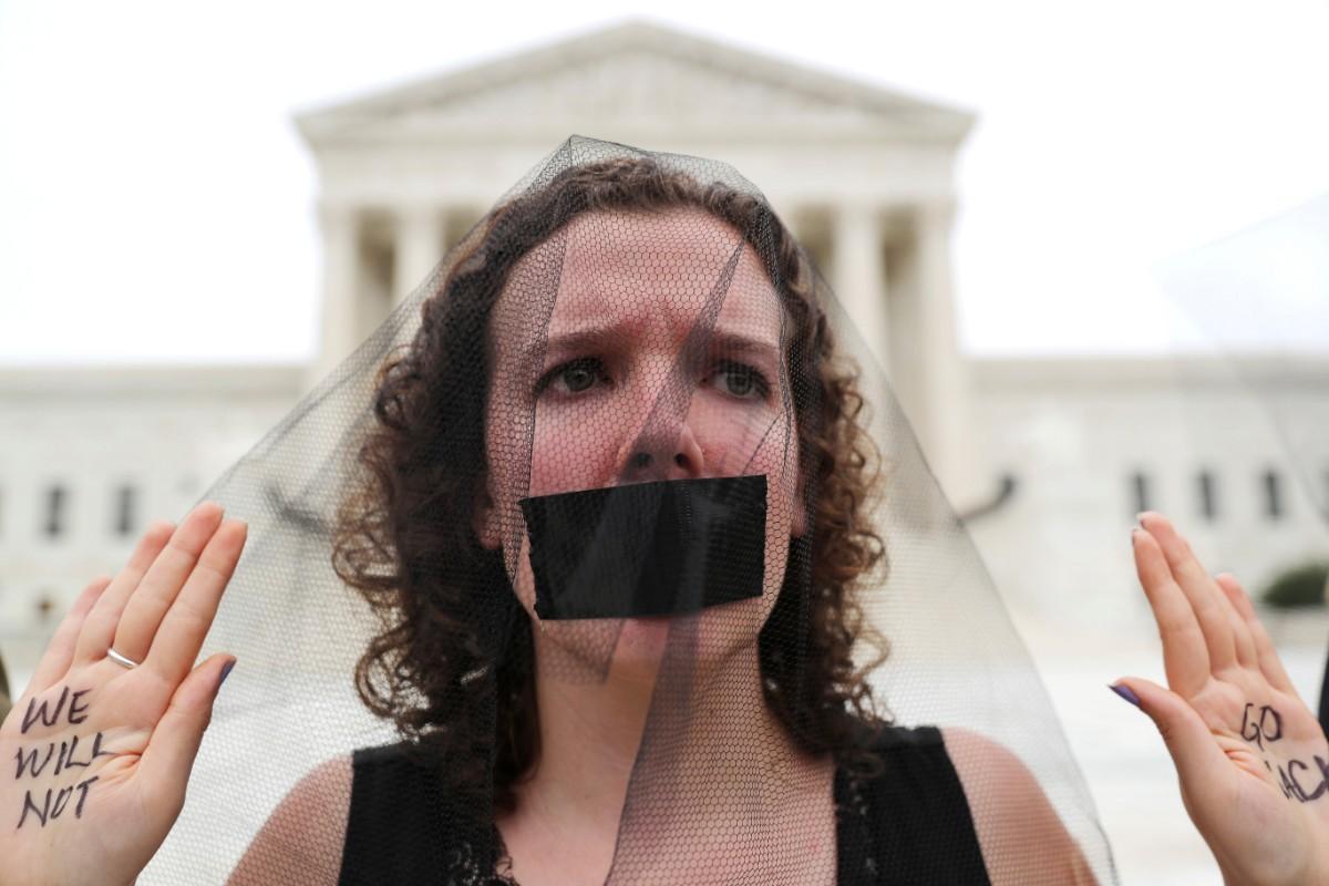 מחאה נגד מינוי ברט קוואנו בוושינגטון / צילום: רויטרס